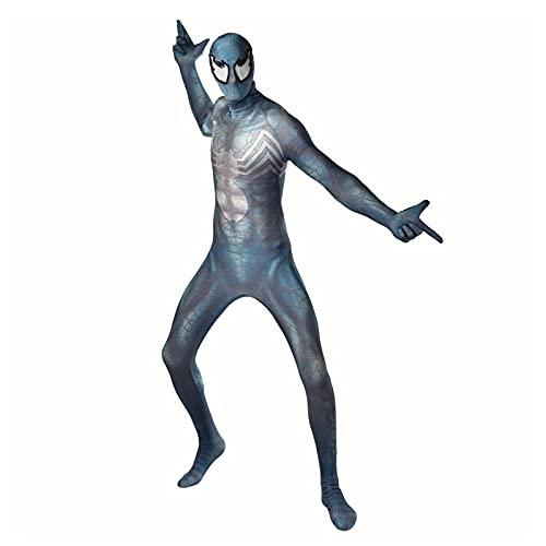 TIanshXY Venom Spiderman Disfraz Novedad Halloween Cosplay Body Kids Prom Show Jumpsuit Cómodo Lycra Spandex Zentai Superhero Fancy Dress Onesies