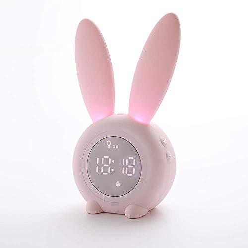 Thumby Alarm Timed-Nachtlicht-Silikon-Sensor Kleiner Alarmton Timing-Timer-Taktgeber-Nachtlicht mit Schlaf-Licht for Haus Wecker (Farbe: Grün, Größe: 175.5x94x72.5mm) jianyu