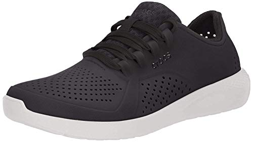 Crocs womens Literide Pacer Sneaker, Black, 8 US