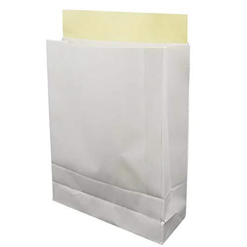 宅配袋 小×25枚 (タテ)320×(ヨコ)260×(マチ)80mm マチあり テープ付 宅配用袋 ホワイト 無地 梱包袋 梱包資材 白袋
