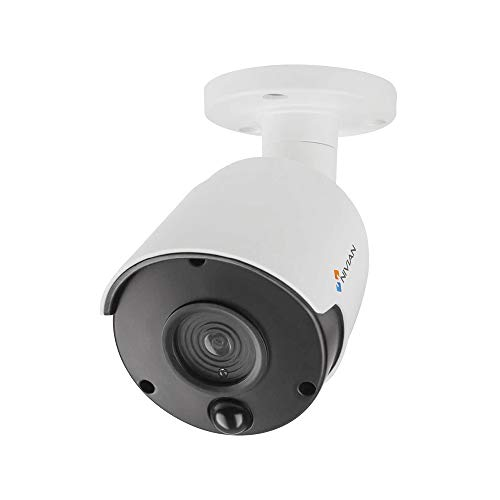 Nivian-Cámara Falsa Tipo Bullet, réplica de cámara Real, Dummy Cámara de Seguridad Vigilancia Falsa Impermeable – Corona Leds IR Reales y PIR - Fake Cámara Simulada CCTV