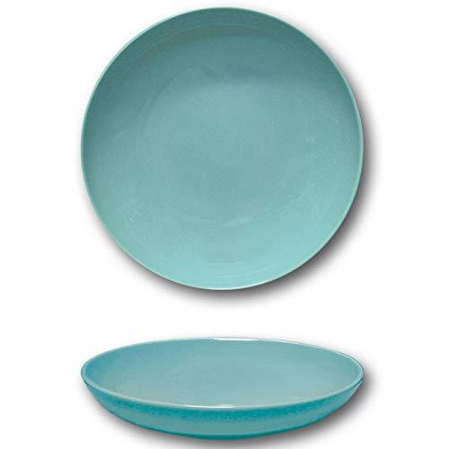 Assiettes creuses porcelaine Bleue - D 22 cm - Siviglia x 6