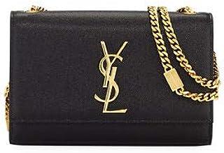 b99fb8e578d Saint Laurent Kate Monogram YSL Small Grain Leather Crossbody Bag made in  Italy