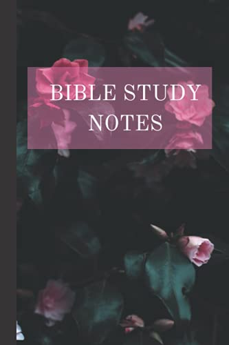 Bible Study Notebook: Floral Lined Notebook