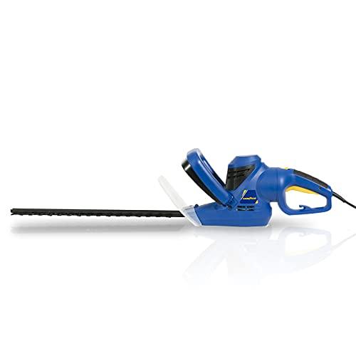 Goodyear Cortasetos eléctrico 450 W, 500 mm de Longitud de Corte, 16 mm de Distancia Entre Dientes, gatillo de Seguridad, Mango Giratorio 90º