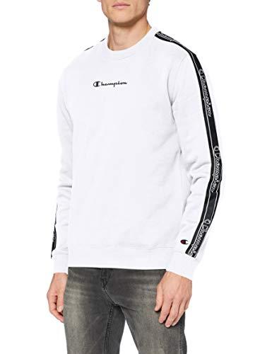 Champion Herren Men\'s Seasonal Tape Sweatshirt, White (Ww001), S