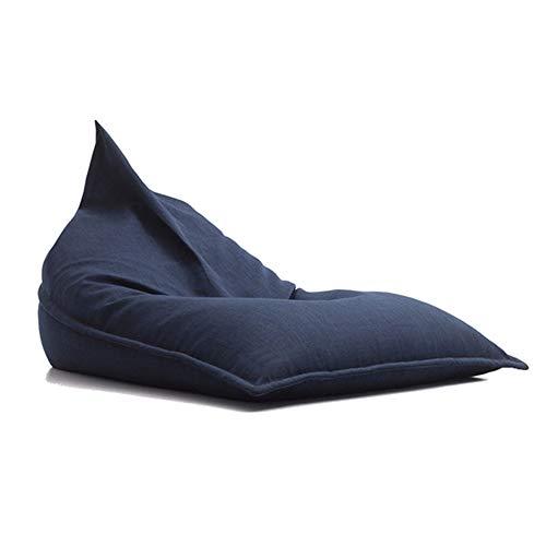 Sofa GJDBBLY Zitzak Lounger Voor Volwassenen Kids Vloerkussen Sofa Zitzak Stoel Poef Puff Seat 90 * 160 * 120cm Navy Color