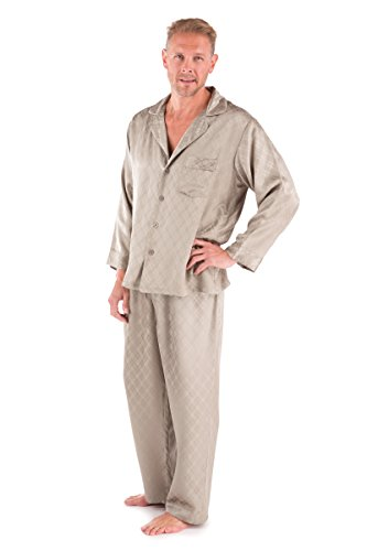Big Sale Mens Luxury Silk Pajamas Set - Sagacity (Large) - Silk Sleepwear Set for Men; Anniversary Gift for Husband Him Romantic Gifts for Men Husband Boyfriend Romantic Intimate Gift Love Clothing Unique Unusual Winter Gifts for Men Special Personal Luxury Silk Gifts Him 0055-L