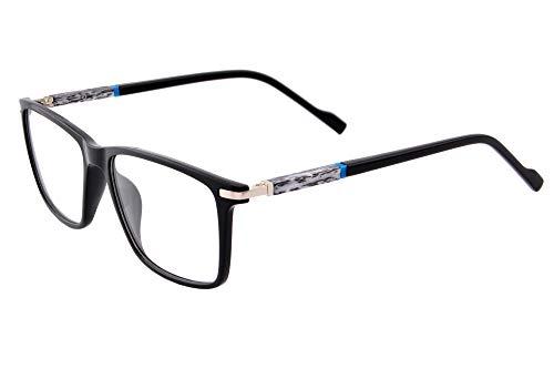 SHINU Square Progressive Multifocus Occhiali da lettura Anti Blue Light per donne Maenner Readers-MFANB8806 C2 nero e argento. M