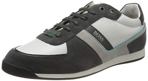 BOSS Herren Glaze_Lowp_mx Sneaker, Open White123, 45 EU, 10.5 UK