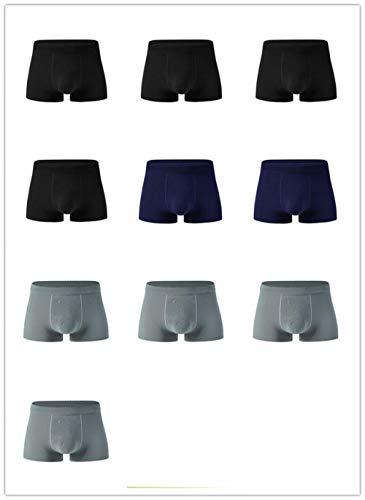 GUANGYING 10 unids/Lote Bragas Masculinas Calzoncillos de Nailon para Hombre Boxers sin Costuras Sexy Seda de Hielo para Hombre Corto transpirable-jxw-02_XXL