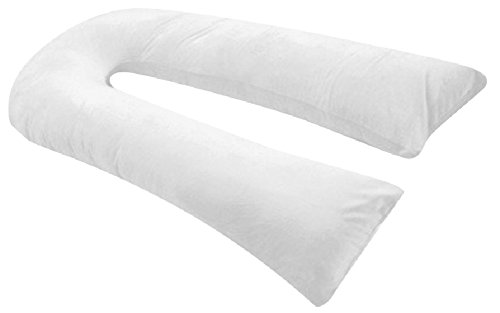 Web Linens Inc Oversized - Total Body Pregnancy Maternity Pillow- Full Support - w/Zippered Cover -...