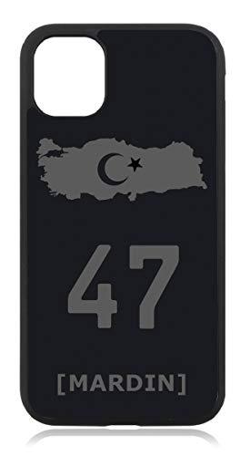 aina Kompatibel mit iPhone 11 Türkiye Türkei 47 Mardin Mattschwarz Schwarz Silikon Handyhülle Case Hülle Cover