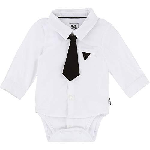 Karl Lagerfeld Kids Body DREI in Eins mit Hemd und Krawatte weiß Gr. 3 Monate