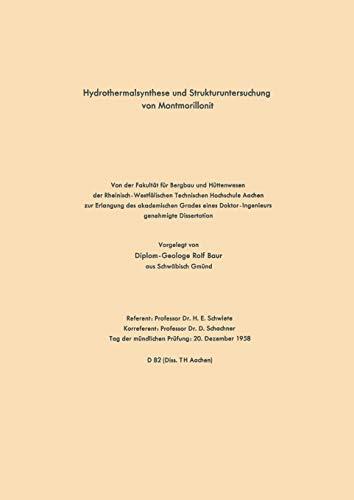 Hydrothermalsynthese und Strukturuntersuchung von Montmorillonit (German Edition)