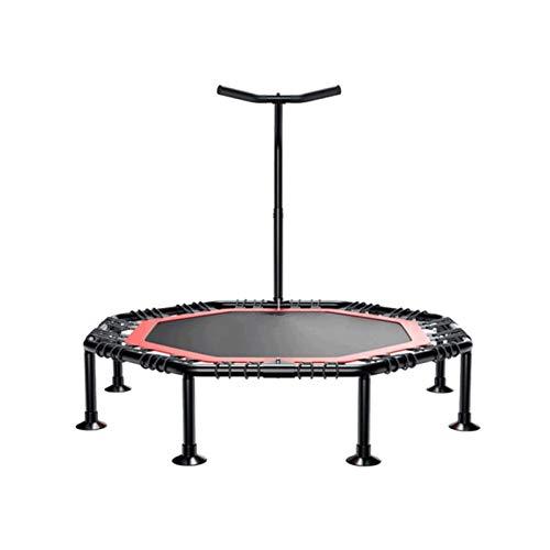 Sdesign El trampolín deportivo con la barra de mango estable y la suspensión de la cuerda para la máxima seguridad, el trampolín deportivo interior para uso doméstico, saltando fitness en dos variacio