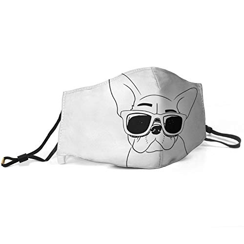 Mens Fashion Mouth Cover French Bulldog Pardon My French Anti Dust Washable and Reusable Face Mask