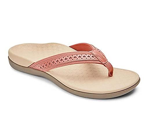 MLLM Ideal para Ducha,Playa,SPA Zapatillas,Chanclas Huecas Planas, Sandalias con Parte Inferior de Masaje para Mujer-Rojo_43,Niño Niña Zapatos de Playa y Piscina