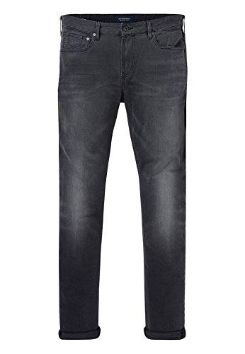 Scotch & Soda Herren Skim Straight Jeans, Grau (Fallen Ashes 0a), 34W / 32L
