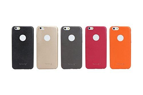 Capa Protetora em Couro para iPhone 6 Plus, Yogo, iPhone 6 Plus- 6S Plus, Capa Protetora Flexível, Vermelha