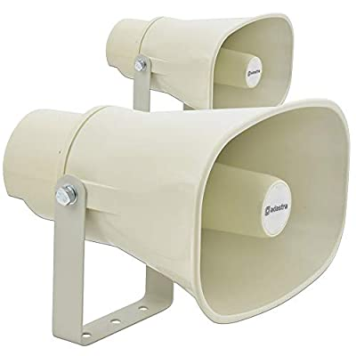 Adastra Pair 100V Line Horn Speakers PA Heavy Duty Water Resistant Outdoor IP56