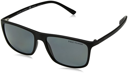 Ralph Lauren Polo 0PH41150881 Occhiali da sole, Nero (Matte Black/Polardarkgrey), 57 Uomo