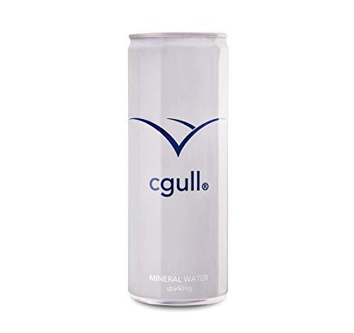 24 x cgull Mineralwasser mit Kohlensäure (250ml Dosen)