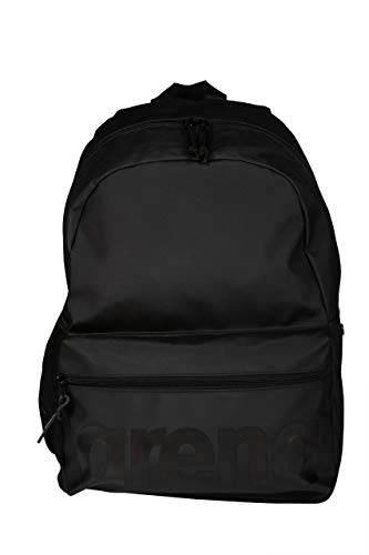 Arena volwassenen rugzak sport school 30L Team All Black Sporttas, one size