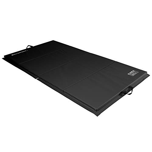 We Sell Mats 4 ft x 8 ft x 2 in Personal Fitness & Exercise Mat, Lightweight and Folds for Carrying, Black