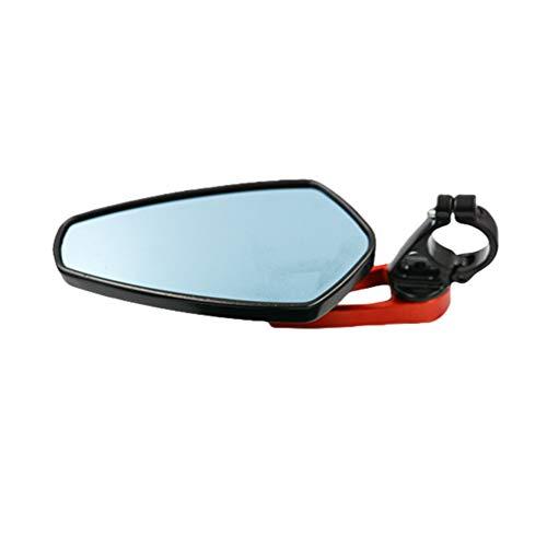 Baijiaye Motor achteruitkijkspiegel,1 paar universele aluminium motorfiets, Achteruitkijkspiegel Blu-ray Spiegel,Geschikt Voor alle Motoren Rood