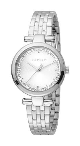 Esprit ES1L203M0065 Cherry Silver Uhr Damen-Uhr Edelstahl Datum Silber