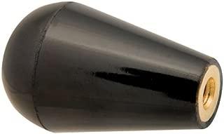 1 dia., 1/4-20 thds., Oval/Tapered Plastic Knob w/Black Brass Insert (1 Each)