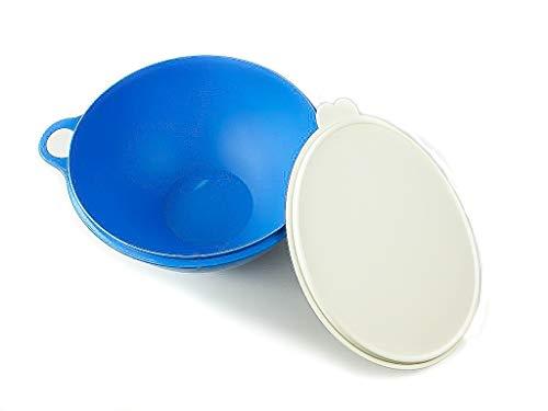 Tupperware Rührschüssel Maximilian 7,5 L blau Jumboschüssel Maxima MIT SPÜLTUCH 450