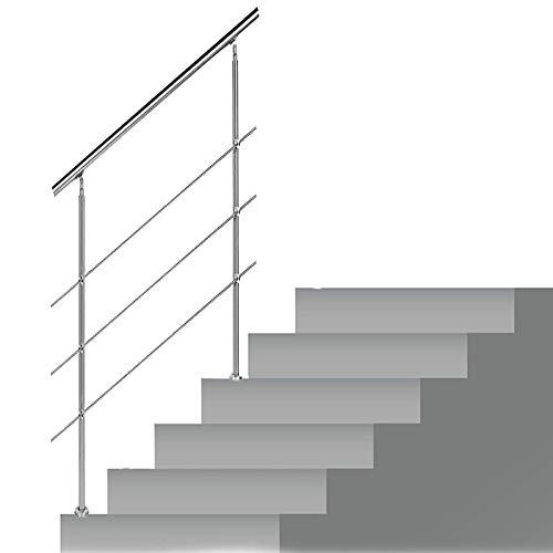 Recliner Edelstahl Treppenhandlauf Komplettset Hausgarten Korridor Lofts Terrassengeländer Runde Röhre für Drinnen Draußen Balkon, 85 cm Groß