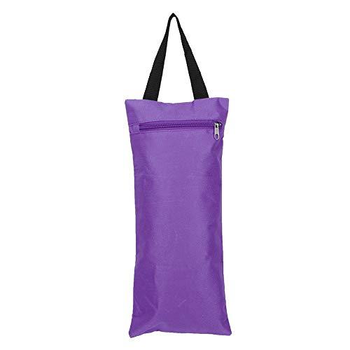 Demeras Yoga Sandbag 2Pcs 41x18cm Yoga Sandbag Sin llenar Durable Bolsa de Arena Doble vacía con Cremallera y asa para Entrenamiento de Yoga(Púrpura)