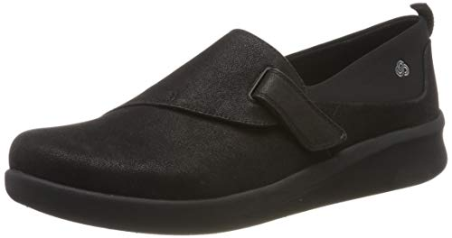 Clarks Sillian2.0ease, Mocasines Mujer, Negro (Black Synthet