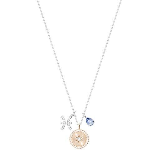 Swarovski Pendentif Zodiac, Poissons, Bleu, Métal Rhodié