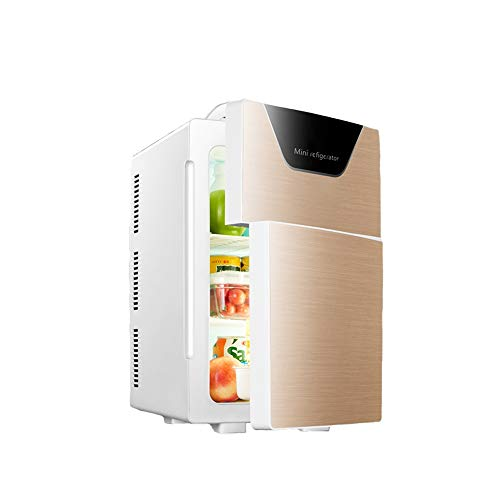 SYLOZ Mini-Nevera, Coche de refrigerador portátil Compacto con Pantalla de Temperatura for el Coche/Barco/piloto automático/Camping/Outdoor (Color : Gold)
