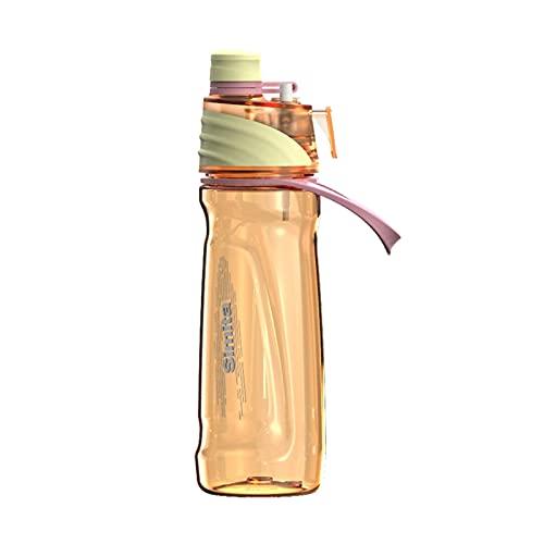 Taza de agua con pajita, para gimnasio, deportes al aire libre, ciclismo (capacidad: 0,65 L, color: naranja)