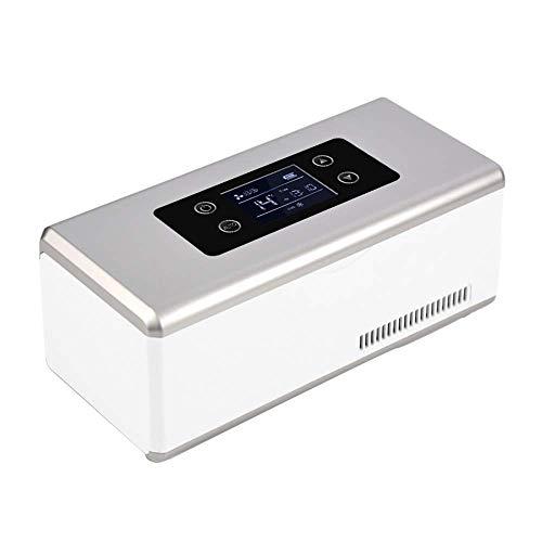 LKAIBIN Nevera portátil Coche Mini insulina Caja refrigerada, 2-8 ° C refrigerador médico, la Droga más Fresco, Adecuado for Viajes/Interferón Almacenamiento/Drogas