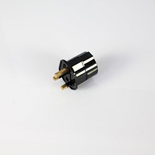 Adaptador de cable de corriente UE a UK 13A, negro - Enchufe para el extranjero - showking