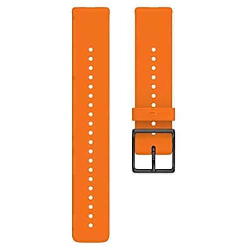 Pulseira de 20 mm com estampa de losango Polar Ignite, Orange - Silicone