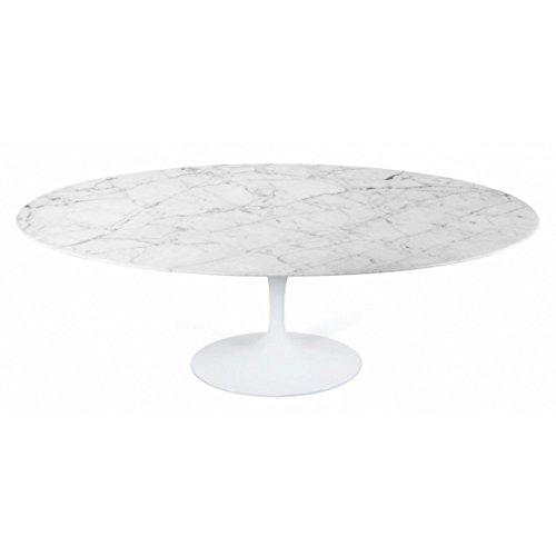 Eero Saarinen Mesa de comedor de estilo mármol Tulip Oval grande