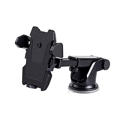 Humble Universal Silicone Sucker Long Neck Car Mobile Phone Holder Mount Stand Ultimate Reusable Suction Cup with 360 Degree Rotation for Car Windshield Dashboard – (Black)