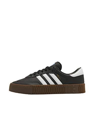 Adidas Sambarose, Zapatillas Clasicas Mujer, Negro (Core Black/Cloud White/Gum5), 36 2/3 EU