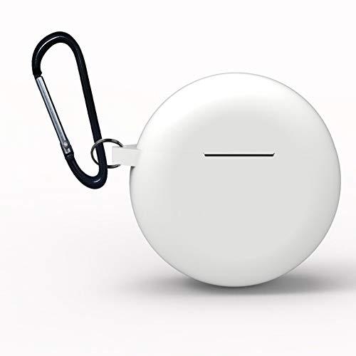 XuBa beschermhoes voor Huawei Freebuds 3 2019, houder voor koptelefoon, draadloos, siliconen, TWS Bluetooth koptelefoon, Eén maat, Wit.