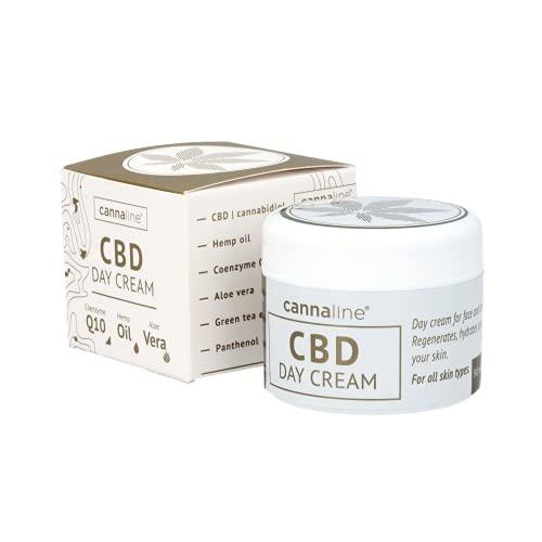 50 ml Cannaline Crema Facial con Aceite de Cáñamo. Hidratante diario para Cara y Cuello. *NUEVA* Anti-Envejecimiento y Calmante.