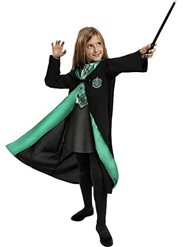 Funidelia | Disfraz Slytherin Harry Potter Oficial para niño y niña Talla 5-6 años ▶ Hogwarts, Magos, Películas & Series - Color: Negro - Licencia: 100% Oficial