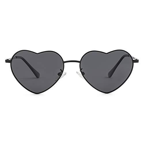 Polarized Heart Sunglasses for Women Fashion Lovely Style Metal Frame UV400 Protection Lens...