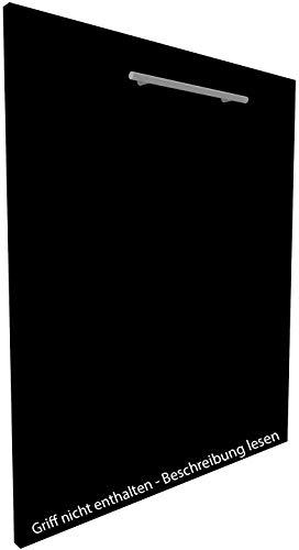 Geschirrspülerfront 19mm voll-, teilintegriert und nach Maß (Graphitschwarz, 594x715mm)